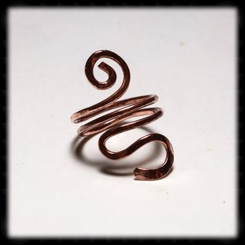 Hand Hammered Copper Ring - Style 1