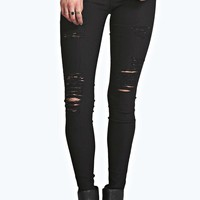 Rose Ripped Stretch Jeans