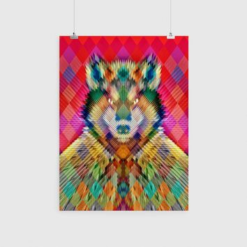 Corporate Wolf Poster, Animal Wall Art, Cool Wolf Art Print