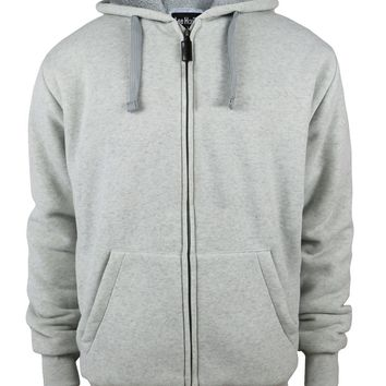 Boys Full Zip up Fleece Hoodie Sweatshirt - Light Grey - CASE OF 12