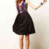 Legend & Song Dutch Wax Kirezi Dress Black Motif