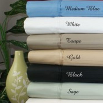 "21"" Deep Pocket -5 SIZES-1000TC Striped Egyptian Cotton Bed Sheet Sets Color: Sage Size: King"