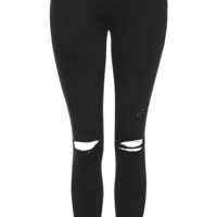 PETITE MOTO Washed Black Leigh Jeans - Topshop