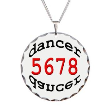 dancer 5678 Necklace Circle Charm