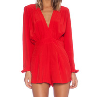 Motel Jet Romper in Red