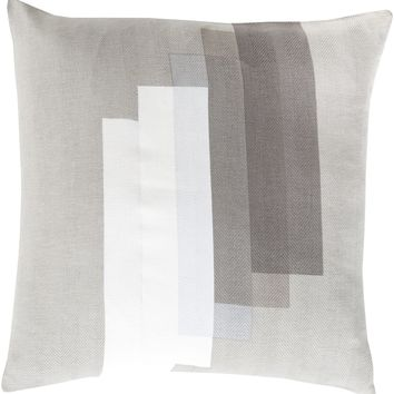 Teori Throw Pillow Gray, Neutral