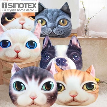 Personality Cat Cushion Cover Cartoon Chair Sofa Pillow Case Creative Handsome Cute Seat Cushion Cat Shape Nap Pillow Cover 1PCS