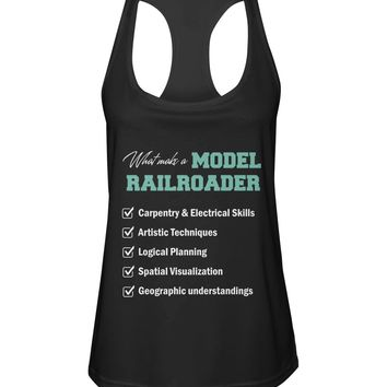What make a model railroader shirt Women's Racerback Sport Tank