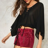 One Strap Mind Lace-Up Top