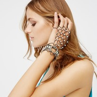 Free People Gillespie Opal Chain Glove