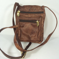 The Vintage Valentina brown leather shoulder bag