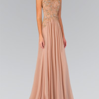 Chiffon Sheer Back Gown