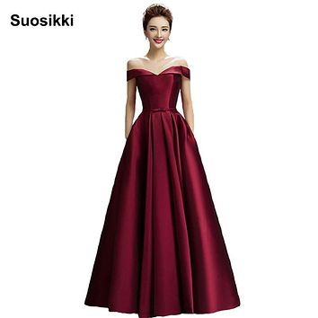 Suosikki 2016 New Arrival Evening Dresses Long Formal Party Dress Prom Gown satin dresses vestidos de festa free shipping