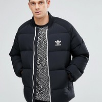 adidas Originals Superstar Down Jacket In Black BR9735 at asos.com