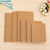 1pcs cowhide paper notebook blank notepad book vintage soft copybook daily memos Kraft cover journal notebook 01623