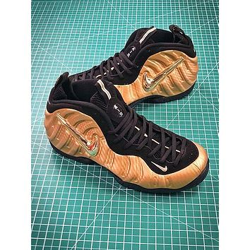 Nike Air Foamposite Pro Metallic Gold 624041-701 Sport Basketball Shoes - Sale
