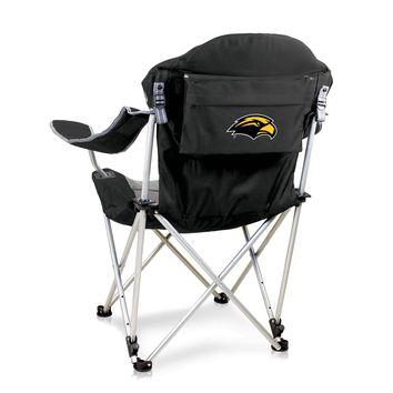 Southern Miss Golden Eagles Reclining Camp Chair-Black Digital Print