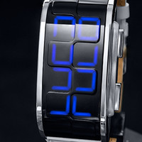 Modern Digital LED Watch with Time, Date, Alarm & Six Animations. Kisai Sequence.