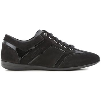 Versace Collection Womens Suede Leather Mesh Insert Lace Up Sneakers