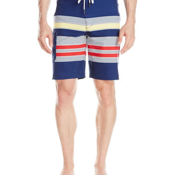Sperry Top-Sider Mens Navy Sea Port Stripe Boardshorts Size 32