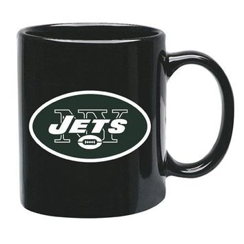 New York Jets 15oz Black Mug