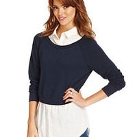 Dolled Up Juniors Top, Long Sleeve Layered - Juniors Sweaters - Macy's