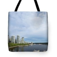 """Coal Harbor Tote Bag for Sale by Ivy Ho (18"""" x 18"""")"""