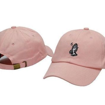 DCCKSP2 Drake OVO CLASSIC 6 God Praying Hands Pink SNAPBACK Caps Casquette OVO CORE COLLECTION HATS STRAPBACK SPORT CAPS Baseball Cap PP