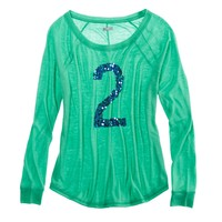 AERIE SEQUIN GIRLY T-SHIRT