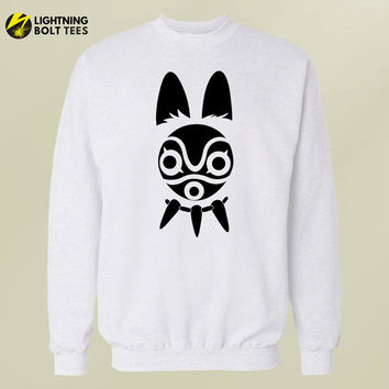 Princess Mononoke Mask Sweatshirt || Howls Moving Castle Spirited Away Nausicaa Laputa Princess Mononoke  Pom Poko whisper of the heart