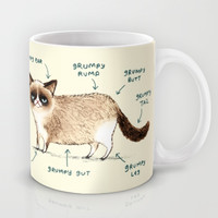 Anatomy of a Grumpy Kitty Mug by Sophie Corrigan