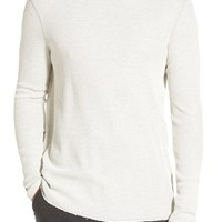 Men's Michael Stars Long Sleeve Waffle Knit Thermal T-Shirt,