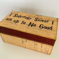 Harry Potter Marauders Map Keepsake Trinket Box - I Solemnly Swear that I am up to No Good - Still available for Christmas