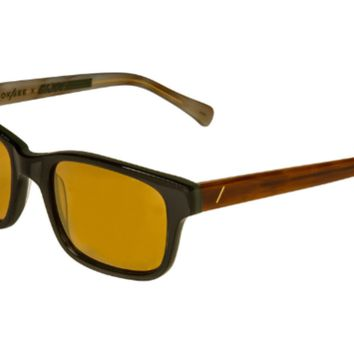 LOOK/SEE Duke Sunglasses, Gold Mirror Lenses