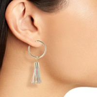Panacea Multicolor Tassel Hoop Earrings | Nordstrom