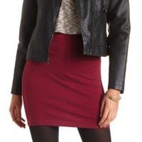 High-Waisted Bodycon Mini Skirt by Charlotte Russe