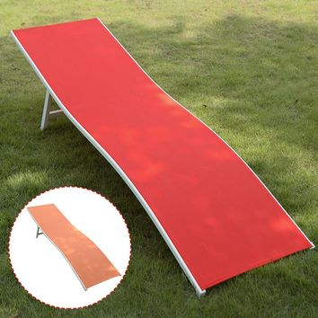 Lounger Outdoor Chaise Lounge Chair Bed Patio Furniture Orange/Red