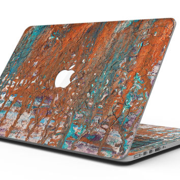 Abstract Cracked Burnt Paint - MacBook Pro with Retina Display Full-Coverage Skin Kit