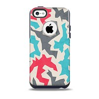 The Retro Colored Abstract Maze Pattern Skin for the iPhone 5c OtterBox Commuter Case