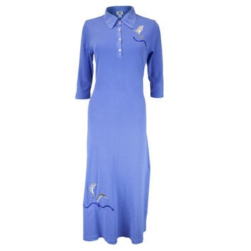 Dolphin Breaching Women's Polo Dress