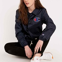 Champion Coaches Jacket in Navy - Urban Outfitters