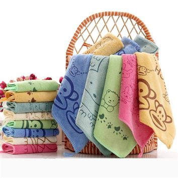Baby Towel fashion superfine fiber Kid Bath Towels Washcloth Square Towel Children Kitchen Bathroom Wipe Wash Cloth gift Towel