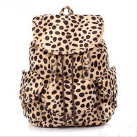 waloli shopping mall — [grlhx120002]Cool Leopard Fashion Backpack Bag