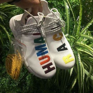 VON3TL Sale Adidas Pharrell Williams NMD Human Race Birthday Colorful Sport Running Shoes Classic Casual Shoes Sneakers