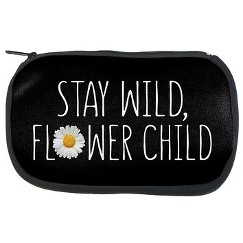Stay Wild Flower Child Daisy Makeup Bag