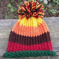 Fall Thanksgiving Knitted Infant Baby Hat