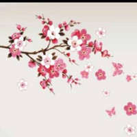 Cherry Blossom Spring Wall Decal Home Decor Wall Art Removable Stickers