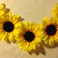 flower crown - hippie flower headband - EDC headband - sunflower crown - EDC - flower halo - flower crown headband - festival wear