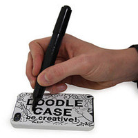 iPhone Doodle Case - Customisable phone case with wipe-clean black marker pen - LatestBuy Australia