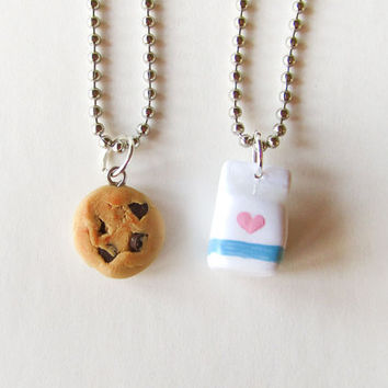 Milk and Cookie Best Friends Necklaces by MadAristocrat on Etsy